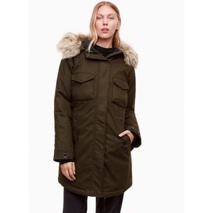 Aritzia community paradigm parka fur hooded jacket
